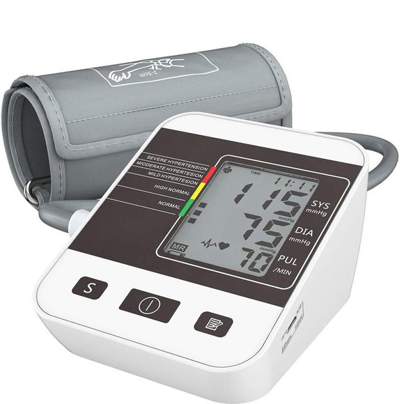 Digital Upper Arm Blood Pressure Monitor Oximeter LCD Display