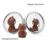 2pcs Foldable Magnifying Pocket Makeup Mirror