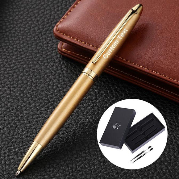 Free Engraving Personalized Expert Black Roller 0.7mm Ballpoint Pen with 2 Refills