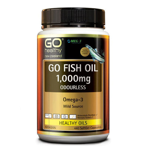 Go Healthy Go Fish Oil Odourless 1000mg