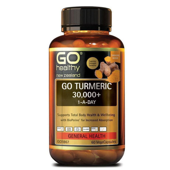 Go Healthy Turmeric 30000+ 1 A Day 60 Vegetable Capsules