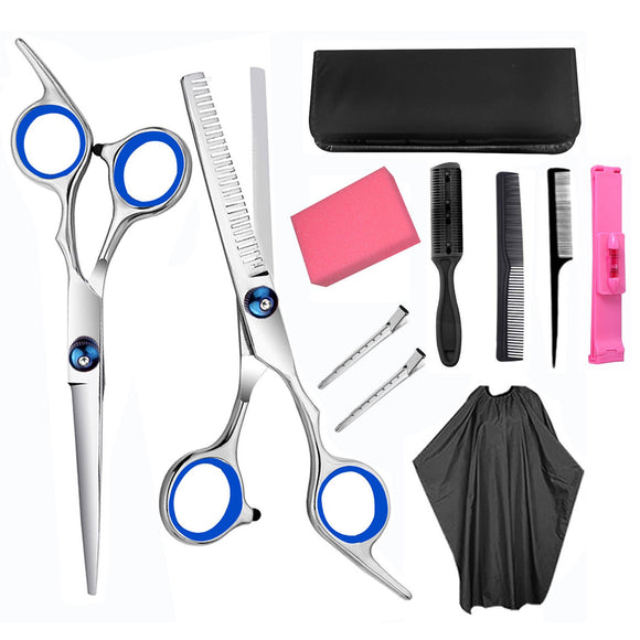 Hair Cutting Shears Hairdressing Scissors Kit for Barber Salon and Home