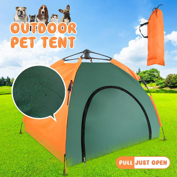 Indoor Outdoor Foldable Pet Tent Rainproof Sunscreen Puppy Nest Bed Cat House Dog Kennel Camping And Hiking Tents And Shelters