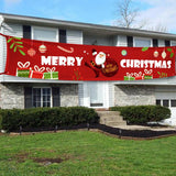 Merry Christmas Outdoor Banner Hanging Ornaments