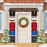 Merry Christmas Porch Banner for Front Door Porch Garden Indoor Party Decor