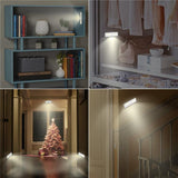 Motion Sensing 6-LED Closet Night Lights Battery Operated