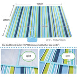 Outdoor Beach Oxford Blanket Waterproof Picnic Blankets Mats