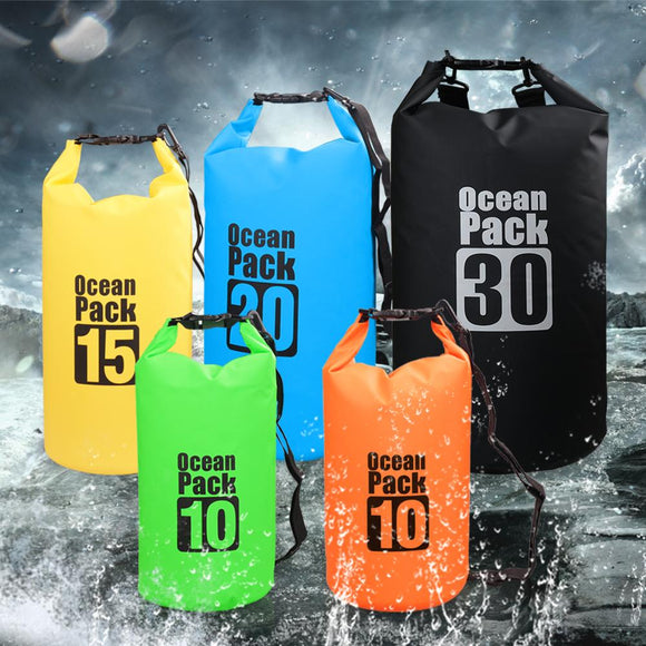 PVC Waterproof Dry Floating Duffel Bag Swimming Storage Pack
