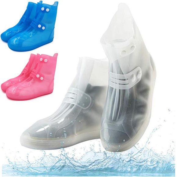 1 Pair of Waterproof Rain Boot Shoe Cover Thick Reusable Overshoes