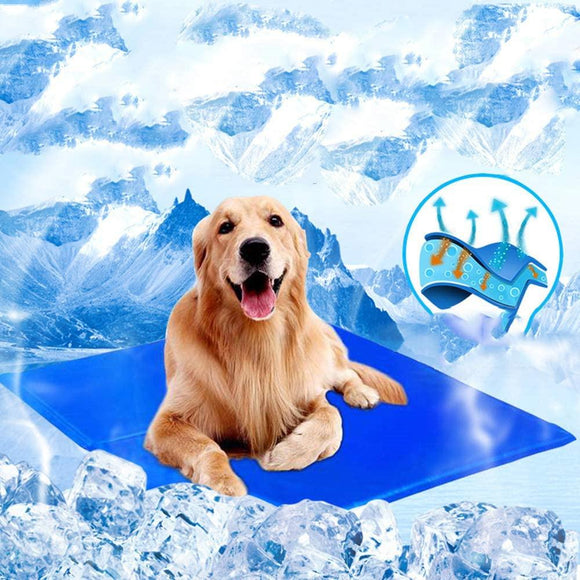 Pet Dog Gel Cooling Mat Bed Ice Pad Keep Cool Summer