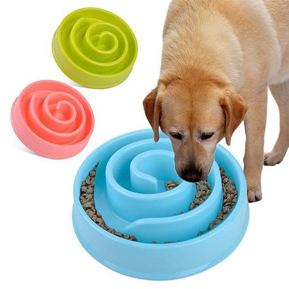 Pet Dog Cat Anti-Choke Slow Feed Bowl Non-Slide Feeder