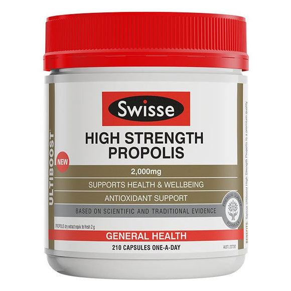 Swisse Ultiboost High Strength Propolis 2000mg - 210 Capsules