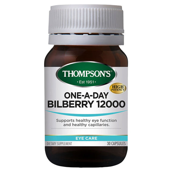 Thompson's One-A-Day Bilberry 12,000mg - 30 Capsules