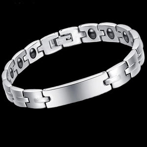 Titanium Steel Magnetic Therapy Health Bracelet Bangles Pain Relief