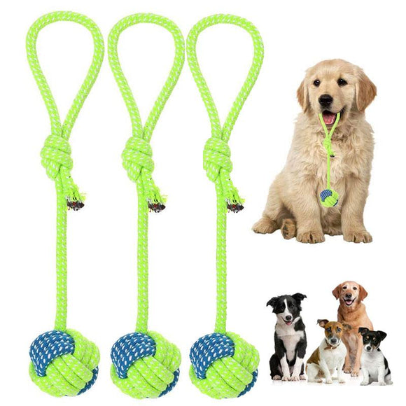 Pet Dogs Cotton Rope Chew Toys for Puppies Teething Clean