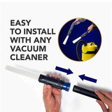 Universal Vacuum Attachment Cleaner Brush Tubes Remover Sweeper