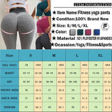 Women Yoga Gym Sports Leggings Fitness Butt Lift Textured Booty Pants