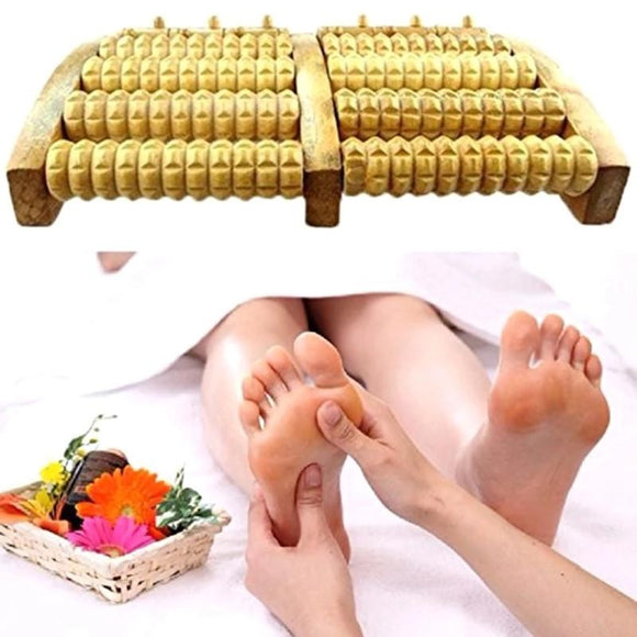 Wooden Stress Relief Feet Massager Massage Roller