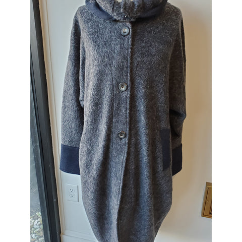 Bane gray/Blue Coat - Shop Jezebel's