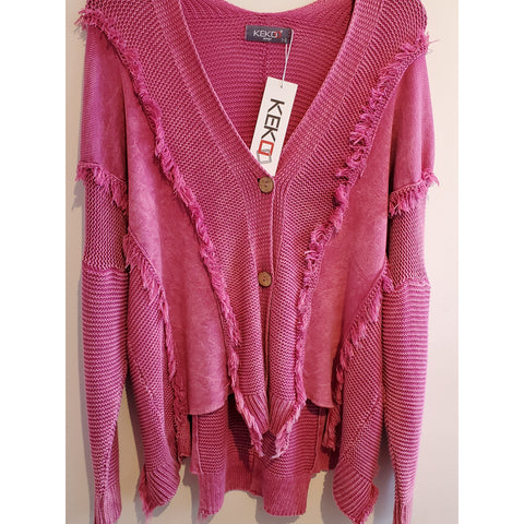 Kekoo Raspberry Sweater - Shop Jezebel's