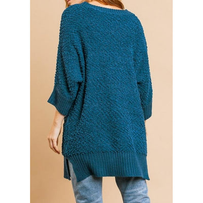3/4 Sleeve Sweater with Pockets - Shopjezebels.com