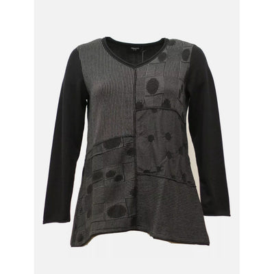 Risona Black and Gray Sweater - Shop Jezebel's