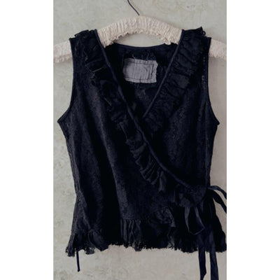 Black Lace Vest - Shop Jezebel's