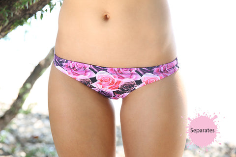 Bed Of Roses - 'Cheekie' Brief - Slix Australia Training Swimwear, Girls Swimwear, Chlorine Resistant, Training Bikini, Swimming