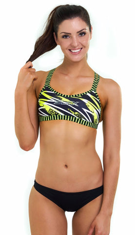 Flash X-Factor Double Take Top - Slix Australia,  Training Swimwear, Girls Swimwear, Chlorine Resistant, Training Bikini, Swimming, Slix, Slix swimwear, training swimwear, swimming costume, chlorine resistant swimwear, Australian made swimwear