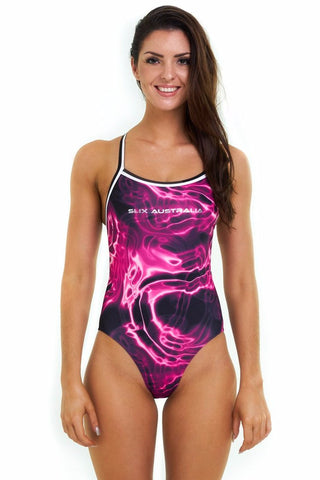 Strawberry Thick Shake Straight One Piece - Slix Australia,  Training Swimwear, Girls Swimwear, Chlorine Resistant, Training Bikini, Swimming, Slix, Slix swimwear, training swimwear, swimming costume, chlorine resistant swimwear, Australian made swimwear