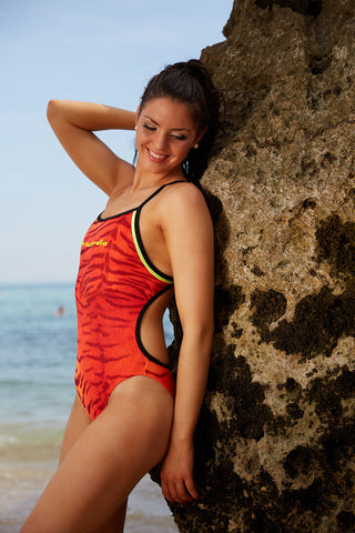 Tigger Minx One Piece - Slix Australia Training Swimwear, Girls Swimwear, Chlorine Resistant, Training Bikini, Swimming
