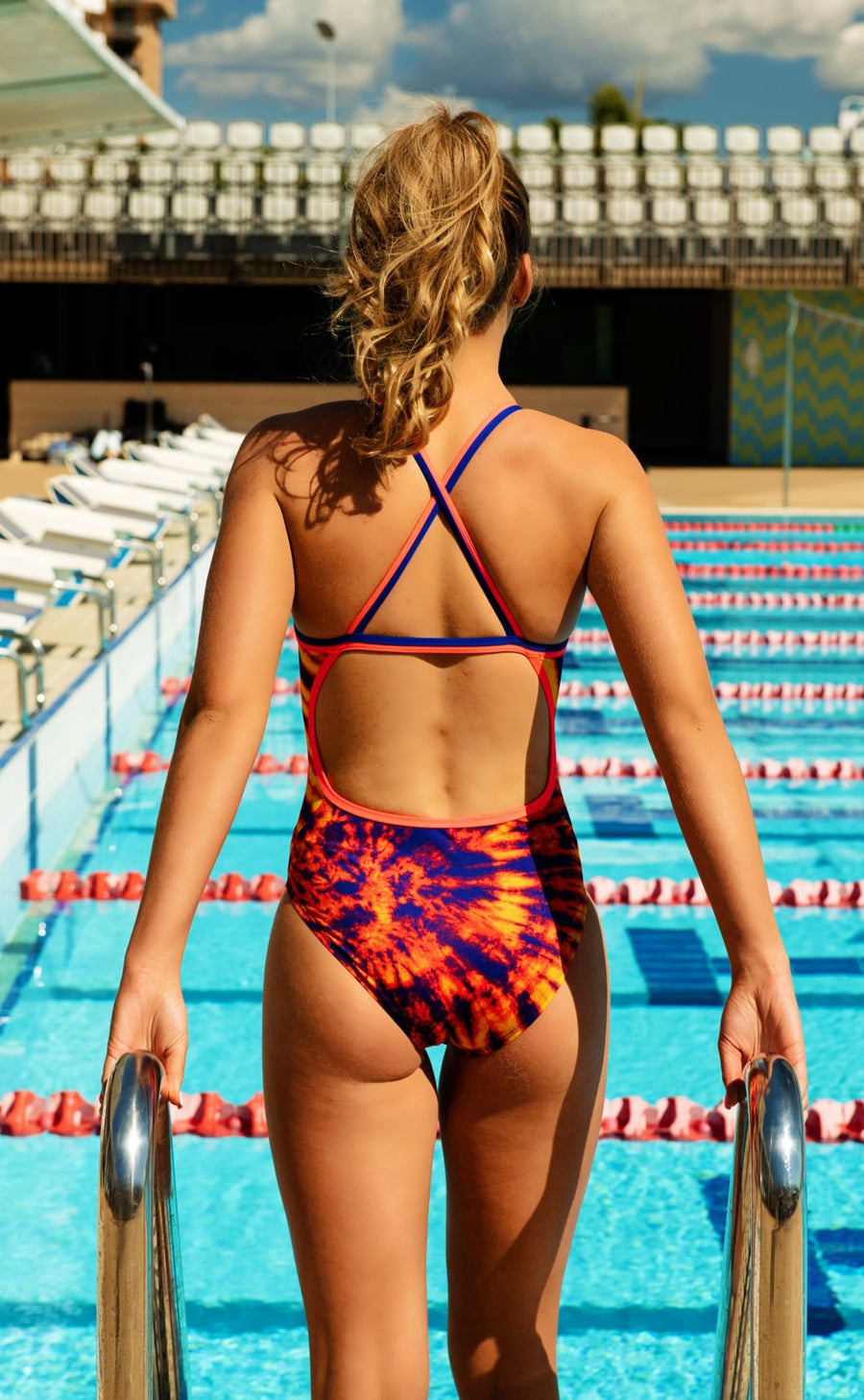 *NEW* SLIX Wicked Fizz Orange Straight One Piece Swim Suit