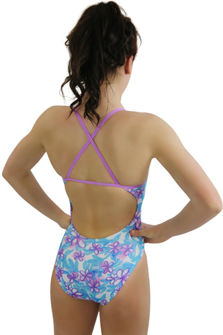 Pretty Petal 'Curve' One Piece - Girls