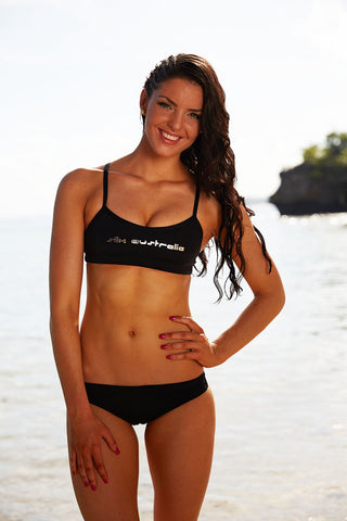 Back in Black Training Bikini - Slix Australia Training Swimwear, Girls Swimwear, Chlorine Resistant, Training Bikini, Swimming