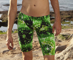 Green Peace Jammers - Slix Australia Training Swimwear, Girls Swimwear, Chlorine Resistant, Training Bikini, Swimming