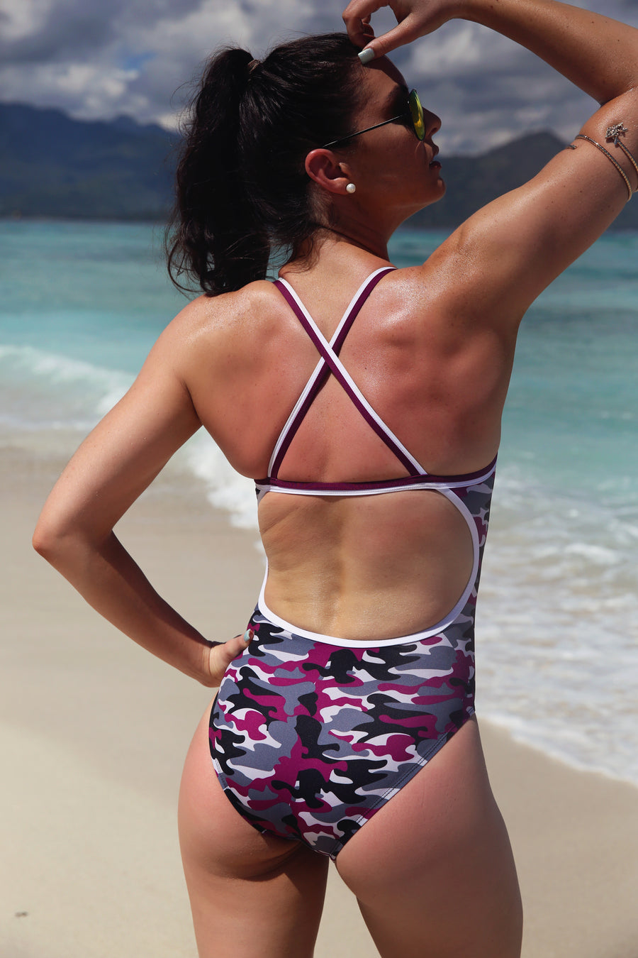 Berry Camo Straight One Piece