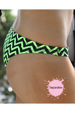 Fluoro Flash 'Cheeky Brief' Separate - Slix Australia Training Swimwear, Girls Swimwear, Chlorine Resistant, Training Bikini, Swimming