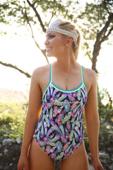 Dream Catcher One Piece - Slix Australia Training Swimwear, Girls Swimwear, Chlorine Resistant, Training Bikini, Swimming