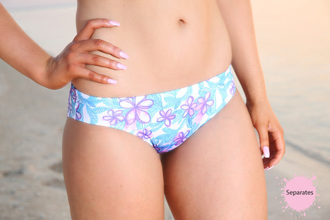 Pretty Petal  - Regular Hipster Brief - Slix Australia Training Swimwear, Girls Swimwear, Chlorine Resistant, Training Bikini, Swimming