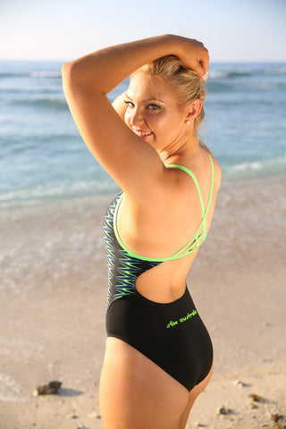 Raptor - Curve Seam One Piece - Slix Australia Training Swimwear, Girls Swimwear, Chlorine Resistant, Training Bikini, Swimming