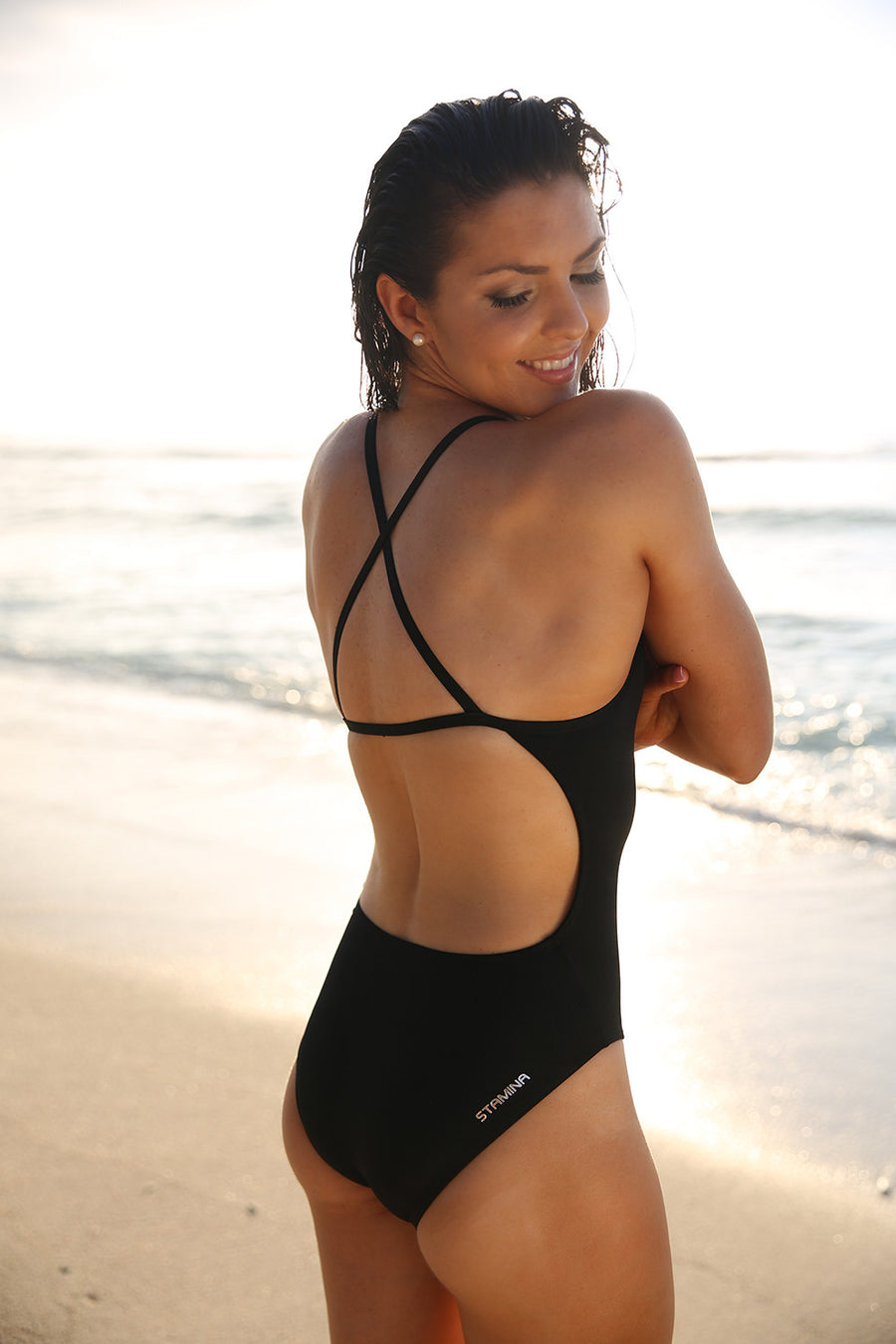 Australian made black swimwear for girls