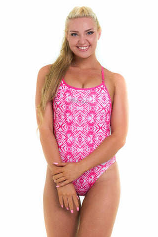 Pink-ing of U Curve One Piece - Slix Australia,  Training Swimwear, Girls Swimwear, Chlorine Resistant, Training Bikini, Swimming, Slix, Slix swimwear, training swimwear, swimming costume, chlorine resistant swimwear, Australian made swimwear