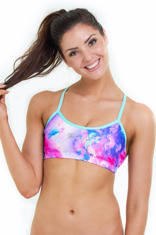 Unicorn Dreams Classic Bikini Top - Slix Australia,  Training Swimwear, Girls Swimwear, Chlorine Resistant, Training Bikini, Swimming, Slix, Slix swimwear, training swimwear, swimming costume, chlorine resistant swimwear, Australian made swimwear