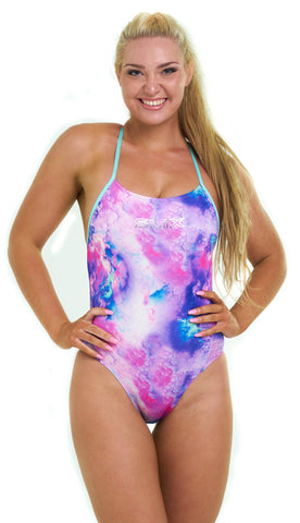 Unicorn Dreams Curve One Piece - Slix Australia,  Training Swimwear, Girls Swimwear, Chlorine Resistant, Training Bikini, Swimming, Slix, Slix swimwear, training swimwear, swimming costume, chlorine resistant swimwear, Australian made swimwear