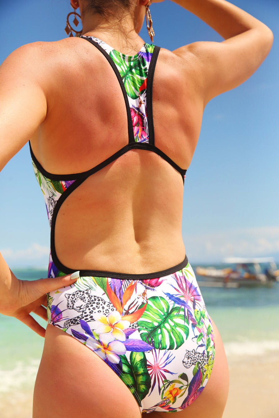 'WILD TROPIC' TRI Back One Piece
