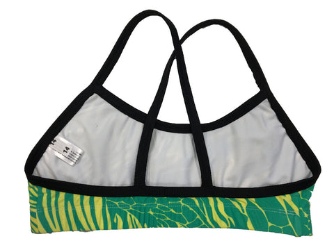 Zebra - Yellow/Green Regular Training Bikini Top - COSTUME OF THE DAY