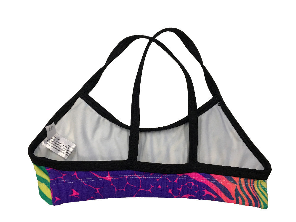 Zebra - Yellow/Green Multi Regular Training Bikini Top - COSTUME OF THE DAY
