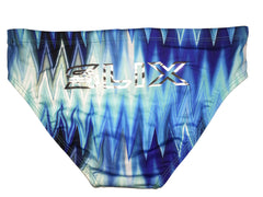 Blue Ziggy Trainer Brief - Slix Australia Training Swimwear, Girls Swimwear, Chlorine Resistant, Training Bikini, Swimming