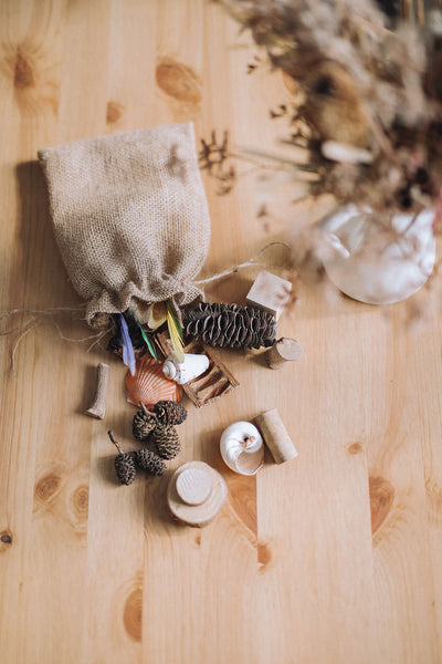 ❀ Loose parts play nature bag | 3+