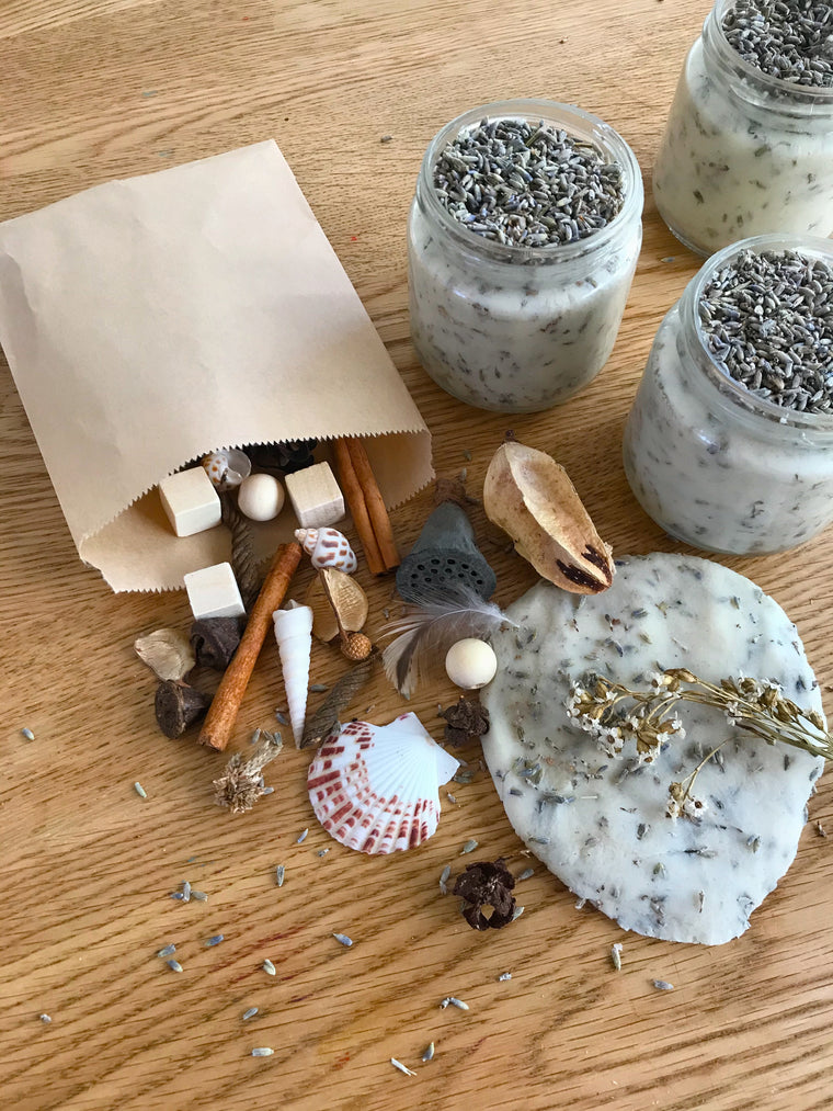 ❁ natural playdough sensory kit | organic lavender sprinkles